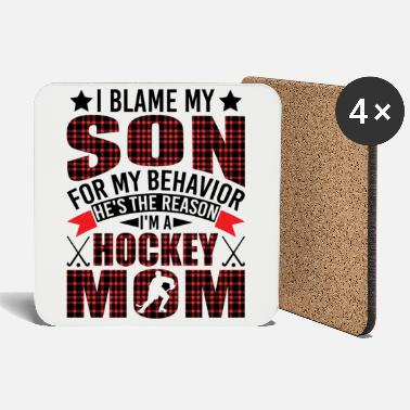 Bowling Hockey Mom I Blame My Son For My Funny Behavior - Coasters