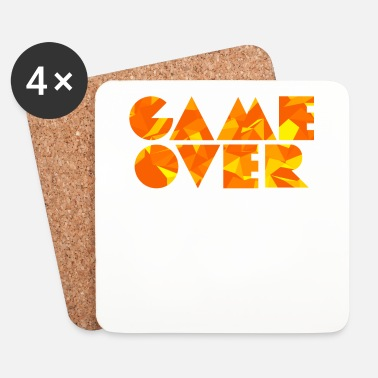 Game Over Game Over (Low Poly) - Dessous de verre (lot de 4)
