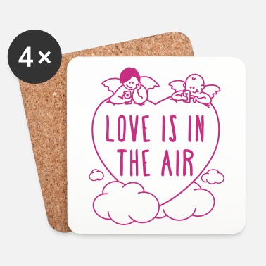 Valentines Day valentine - love is in the air 1c - Coasters (set of 4)