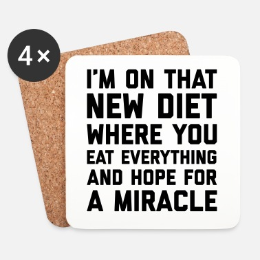 Hopea New Diet Funny Quote - Lasinalustat (4 kpl:n setti)