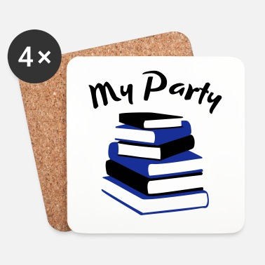 Party My Party - Book Nerd - Underlägg (4-pack)