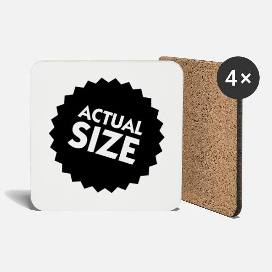 Size Mugs & Drinkware - Actual Size! - Coasters white