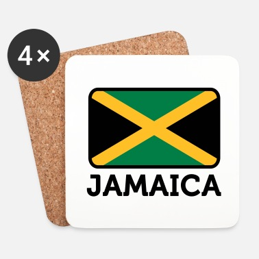Karibia National Flag of Jamaica - Lasinalustat (4 kpl:n setti)