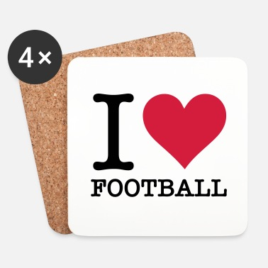Football Je adore le football! - Dessous de verre (lot de 4)
