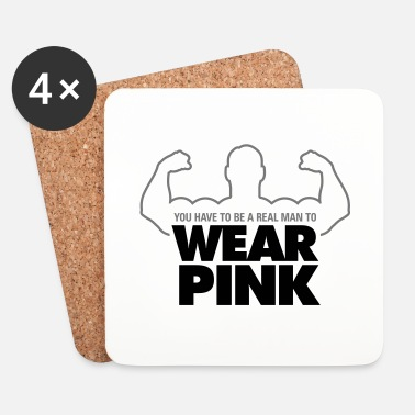 Wear Real Men Wear Pink! - Lasinalustat (4 kpl:n setti)