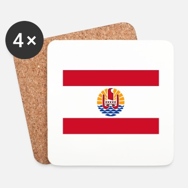 Collections National flag of French Polynesia - Coasters (set of 4)