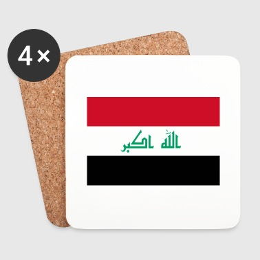 National Flag of Iraq - Coasters (set of 4)