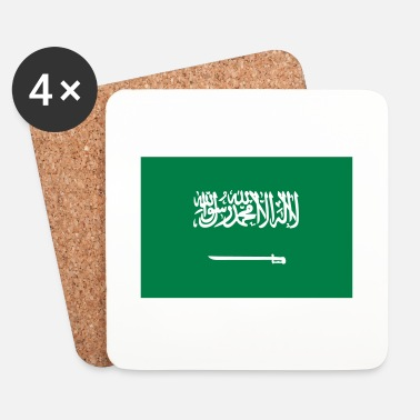 Arabia National flag of Saudi-Arabia - Lasinalustat (4 kpl:n setti)