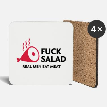 Virility Fucking salad. Real men eat meat! - Coasters