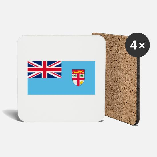 Fiji Mugs & Drinkware - National Flag of Fiji - Coasters white