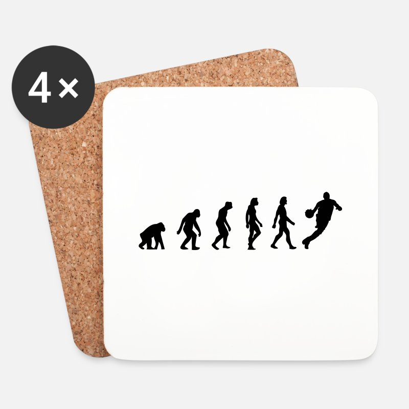 America Mugs & Drinkware - The Evolution of Basketball - Coasters white
