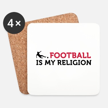 Religion Football Quotes: football est ma religion - Dessous de verre (lot de 4)