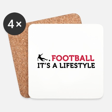 Football Football Quotes: Le football est un mode de vie - Dessous de verre (lot de 4)