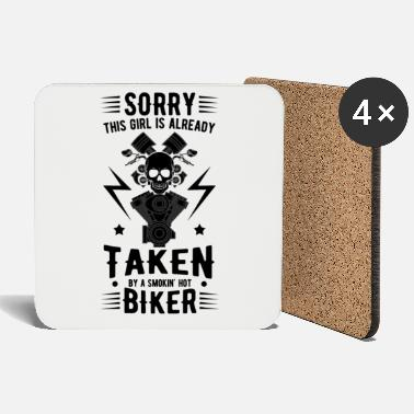 Motorcyclist cool quote - Coasters