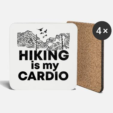 Grill Hiking is my training funny saying shirt - Coasters