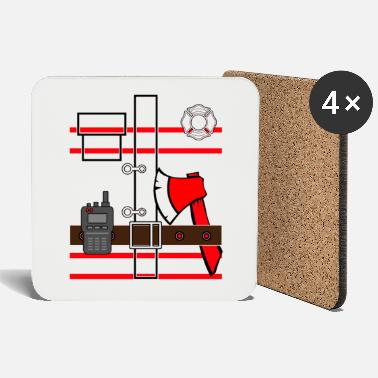 Firefighter suit firefighter - Coasters