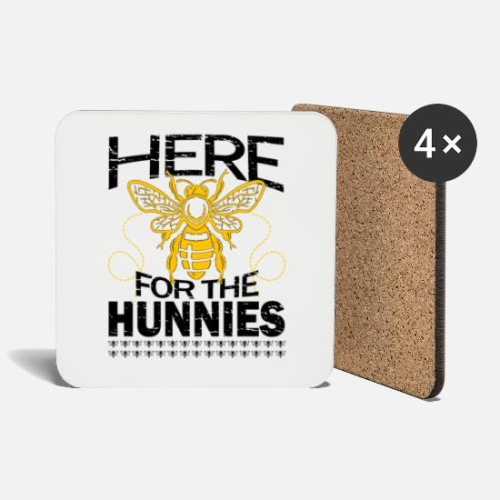 Gift Idea Mugs & Drinkware - Bees beekeepers gift - Coasters white