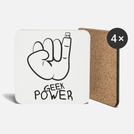 Gift Idea Mugs & Drinkware - Geek - Coasters white