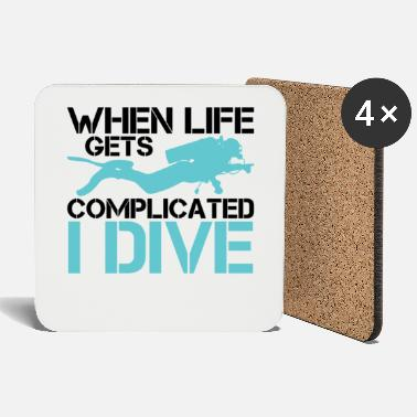 Scuba When life gets complicated - I Dive Diving - Untersetzer