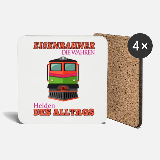 Gift Idea Mugs & Drinkware - Railroader Shirt • The True Heroes • Gift - Coasters white
