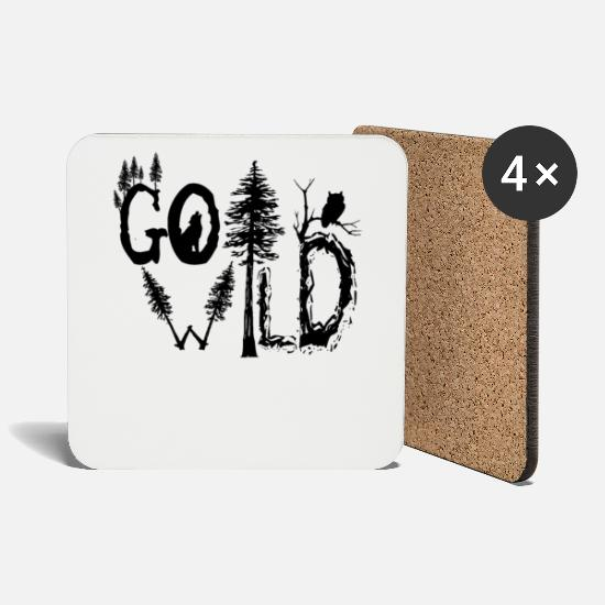 Gift Idea Mugs & Drinkware - Go wild - Coasters white