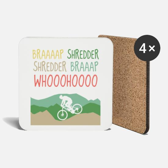 Mountain Bike Mugs & Drinkware - Mountain Bike MTB Bike Mountain Mountain Bike BMX - Coasters white