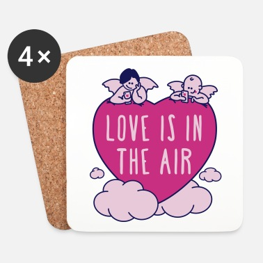 Valentines Day valentine - love is in the air 3c - Coasters (set of 4)