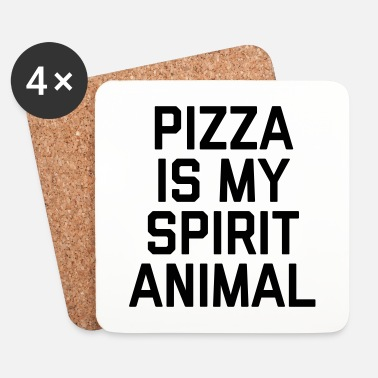Spirit Pizza Spirit Animal Funny Quote - Posavasos (juego de 4)