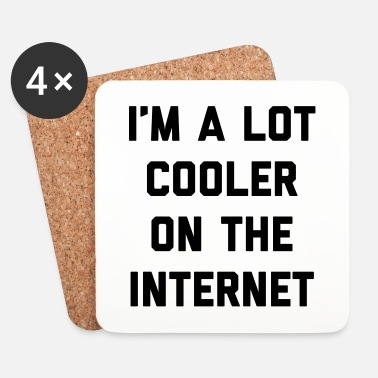 Internet Lot Cooler On The Internet Funny Quote - Posavasos (juego de 4)