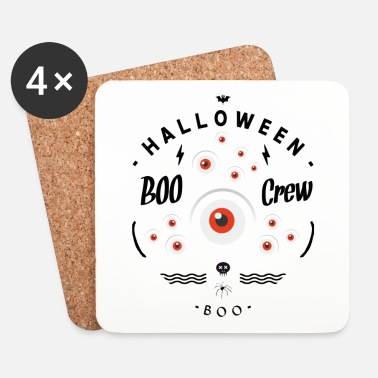 Halloween BOO PARTY - Lasinalustat (4 kpl:n setti)