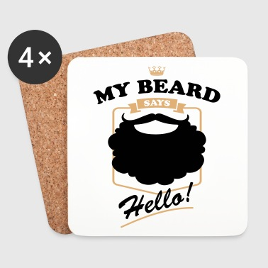 My-Beard-says-Hello - Coasters (set of 4)