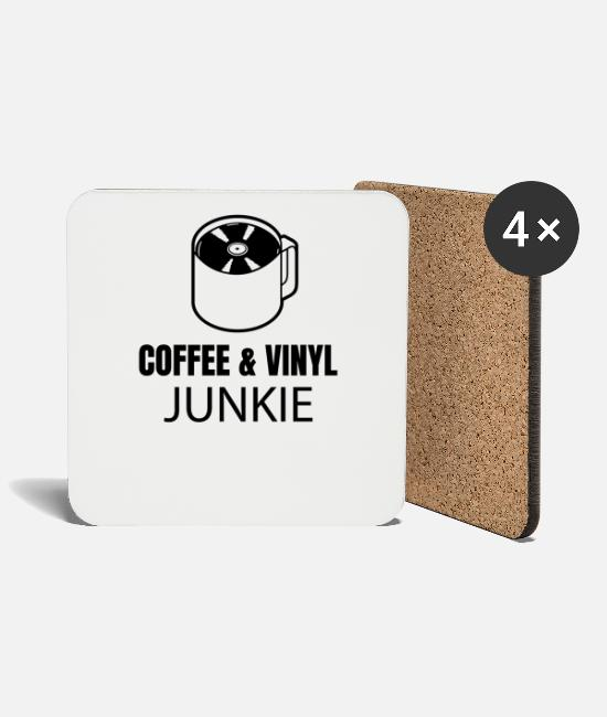 Vinyl Mugs & Drinkware - Music LP Vinyl Records DJ Vinyl Record Collector - Coasters white