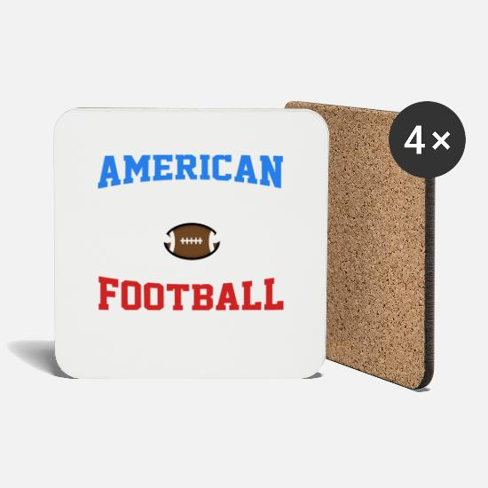 Love Mugs & Drinkware - American football - Coasters white