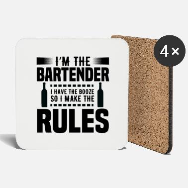 Bar Pub Bartender Rules Bartender Pub Bar Alcohol Gift - Coasters
