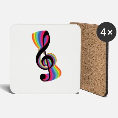 Music Musical Note Clef Musician Colourful - Sottobicchieri