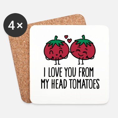 Lol I love you from my head tomatoes - Sottobicchieri (set da 4 pezzi)