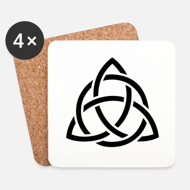 Tatoo motif celtic : triquetra - Dessous de verre (lot de 4)