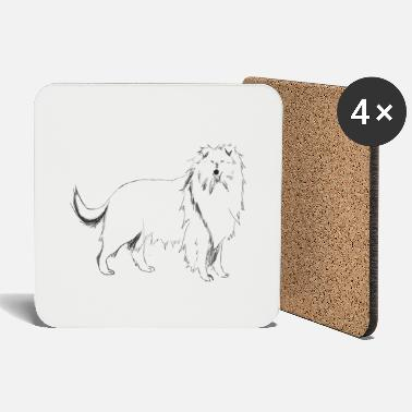 Long-haired Long-haired Herd Dog Long haired collie dog - Coasters