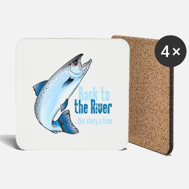 Children S Rainbow BACK TO THE RIVER - FISHING TEXTILES, GIFTS - Coasters