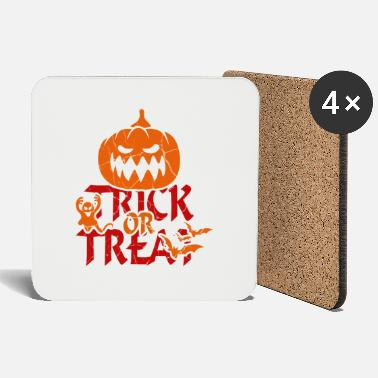 Treat Trick or Treat at Halloween - trick or treat - Coasters