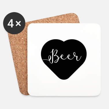 I love beer - Dessous de verre (lot de 4)