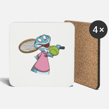 Backhand Tennis one-handed backhand gift idea - Coasters