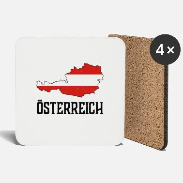 National Austria national national colors home gift - Coasters