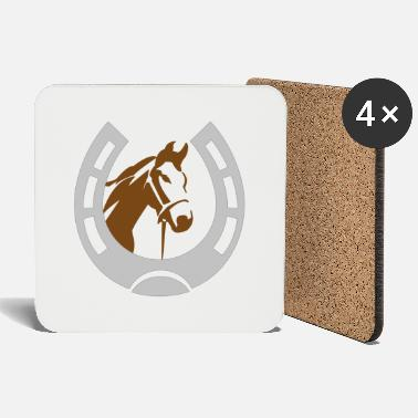 Horseshoe Horse in horseshoe - Coasters