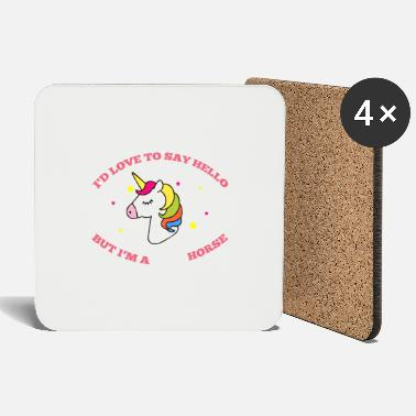 Horseshoe Unicorn with stars colorful - Coasters
