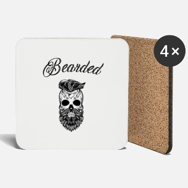 Stylish Skull Bearded Skull Stylish Bearded - Onderzetters