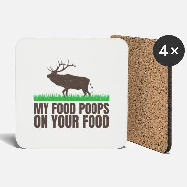 Disse my food poops on your food - Coasters