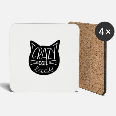 Crazy Cat Lady Crazy Cat Lady - cat lady - Coasters
