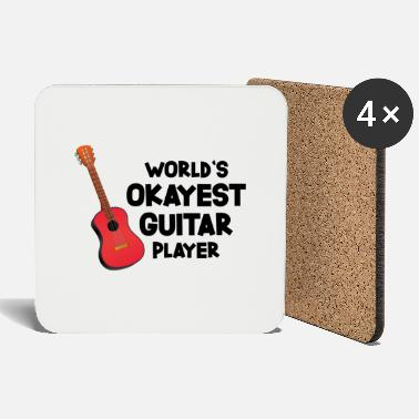 Guitar Player World`s Okayest Guitar Player Geschenk - Untersetzer