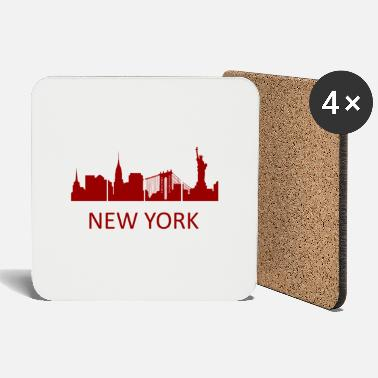 Las Vegas New York Skyline - Premium Design - Untersetzer
